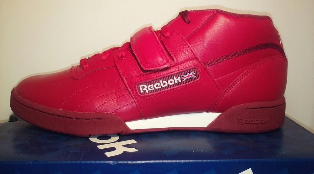 NEW REEBOK WORKOUT MID STRAP RED MENS NIB vintage classic  b84c14bc7