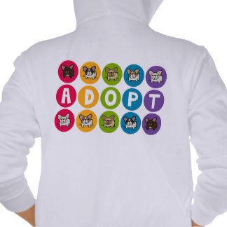 Super cute hoodie at http://www.zazzle.com/frenchbulldogrescue! #frenchbulldog #frenchie