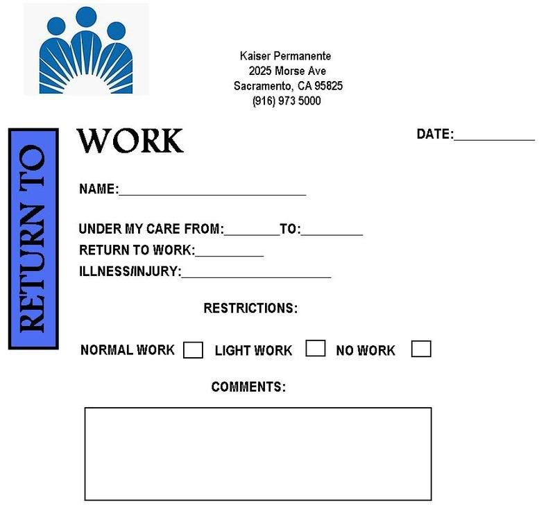Free Printable Doctor Excuse Notes For Work Doreen Kelley In 2019