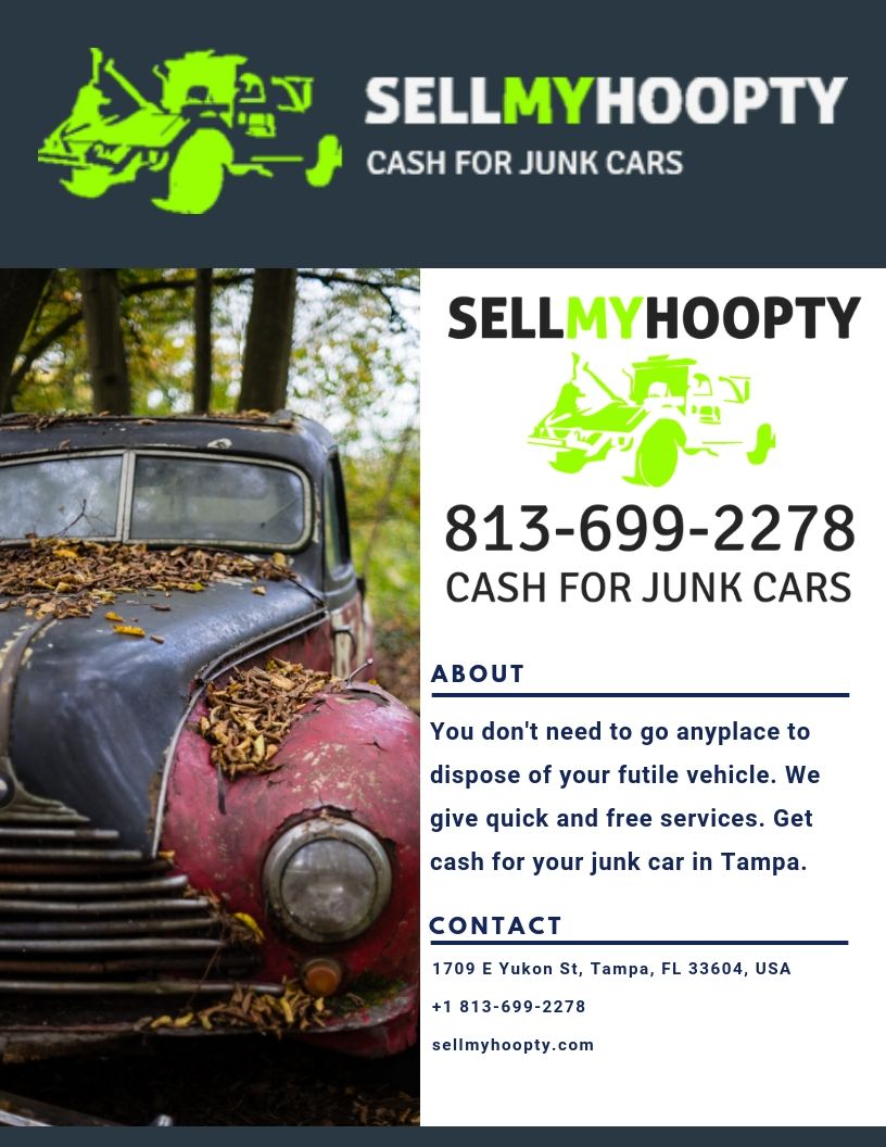 Cash For Junk Cars in Tampa Cars, Cash today, Car ins