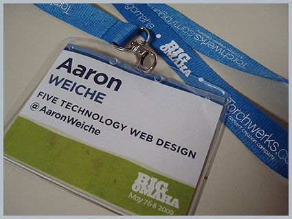 big omaha 1 nametag aaron weichejpg 425 - Name Tag Design Ideas