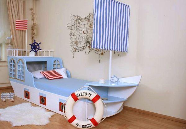 Kinderbett baggerbett  Schiffbett maritim Kinderbett Boot | kinderzimmer | Pinterest ...