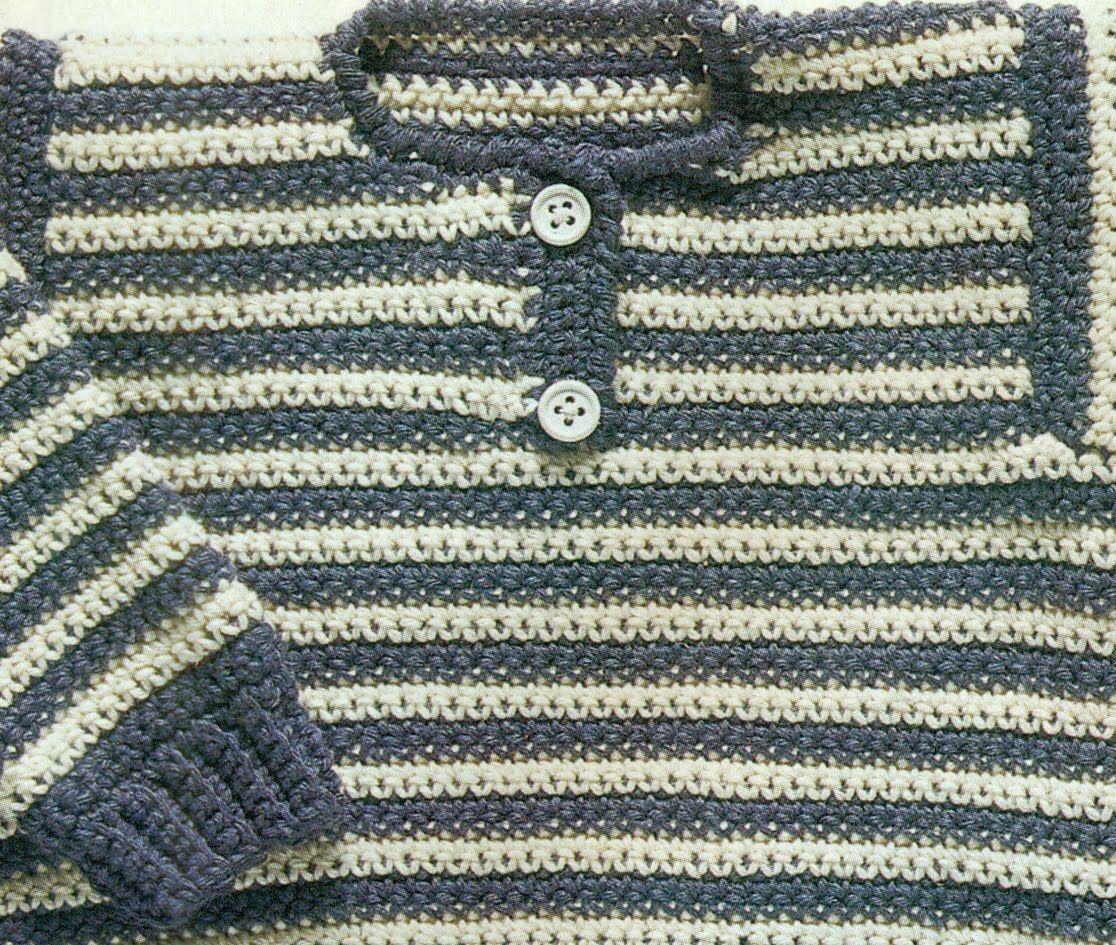 Patrón Para Tejer Suéter Cerrado Para Bebé a Crochet | Bb ...