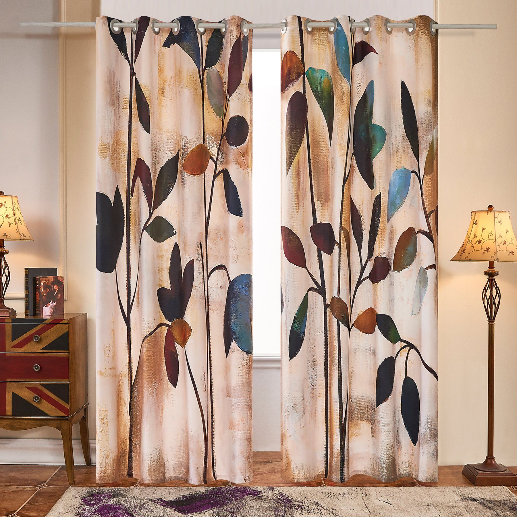 2 Panel Set Digital Printed Curtain For Window is part of Home Accessories Design Window -  100% polyester The colorful picture print window curtains are made of 100% highquality polyester  The polyester fabric curtains enjoy a good property of wrinklefree and keeping forms  Each package of the scenery animal themed room curtains includes two curtain panels  The size of one panel is W54 × L63  70% blackout printed window curtains are great for living rooms, bedrooms, children's rooms and the window draperies ensure you a sound sleep and protect your privacy better  The washable printed window curtains which are washed in cold delicate cycle can be hung dry only and dried naturally in ventilated places  The bedroom living room window drapes are soft, drapery and fantastic to touch and also the 2 window panels give your home a luxury look