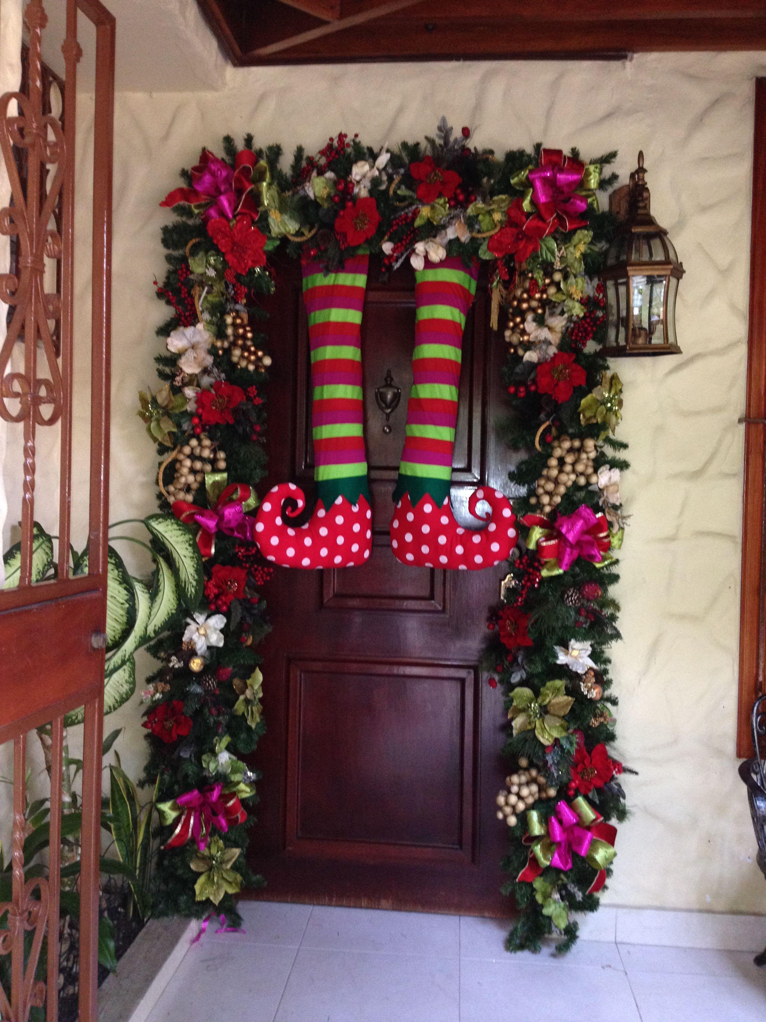 Puerta decorada navidad ideas para navidad decoracion - Decoracion de unas para navidad ...