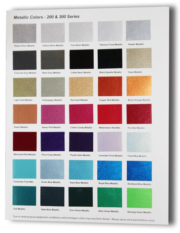 Automobile Paint Chart : automobile, paint, chart, UreKem, Metallic, Color, Charts, Available, TheCoatingStore, Paint, Chart,, Colors,, Painting