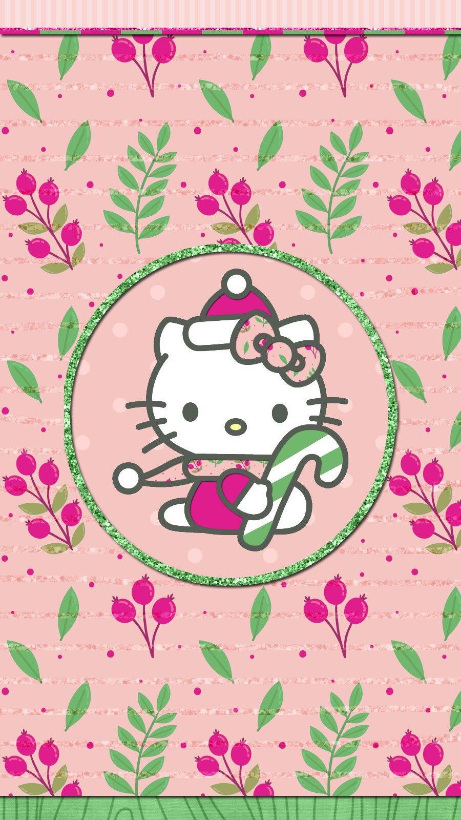 Merry Christmas Wallpaper Iphone Happy Holiday Hello Kitty Hello Kitty Wallpaper Hello Kitty Backgrounds Hello Kitty Christmas