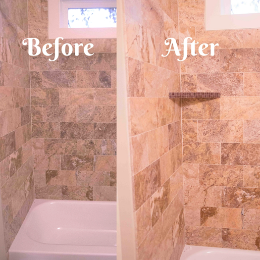 Need More Shelf E In Your Shower Check Out This Easy Diy Tile
