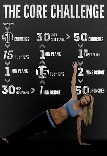 25 Quick Workouts #coreworkouts