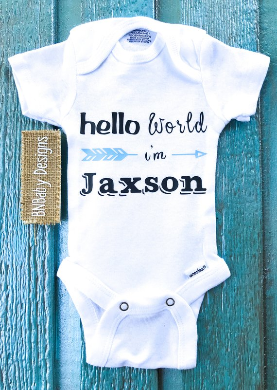 828e91846c220 Custom baby onesie, newborn boy coming home outfit, baby boy onesie ...