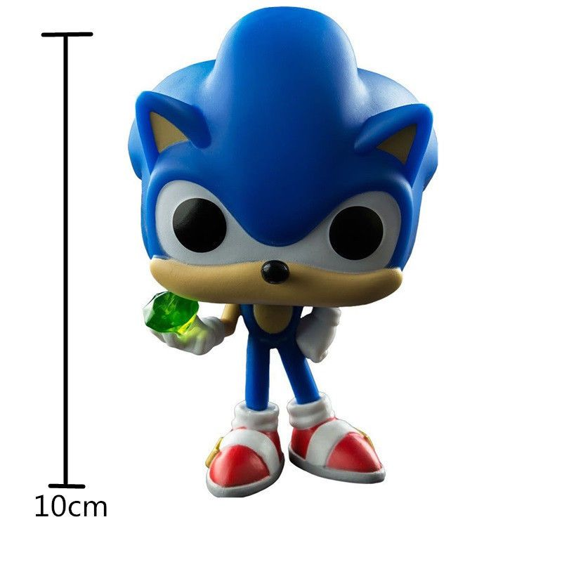 Pop 10cm Anime Sonic The Hedgehog Series Dolls Action Figure Fit Gifts Toys Sonic The Hedgehog Action Figures Exercise For Kids