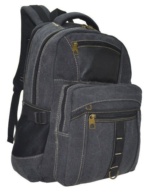 Men's Canvas Backpack With Tablet Sleeve