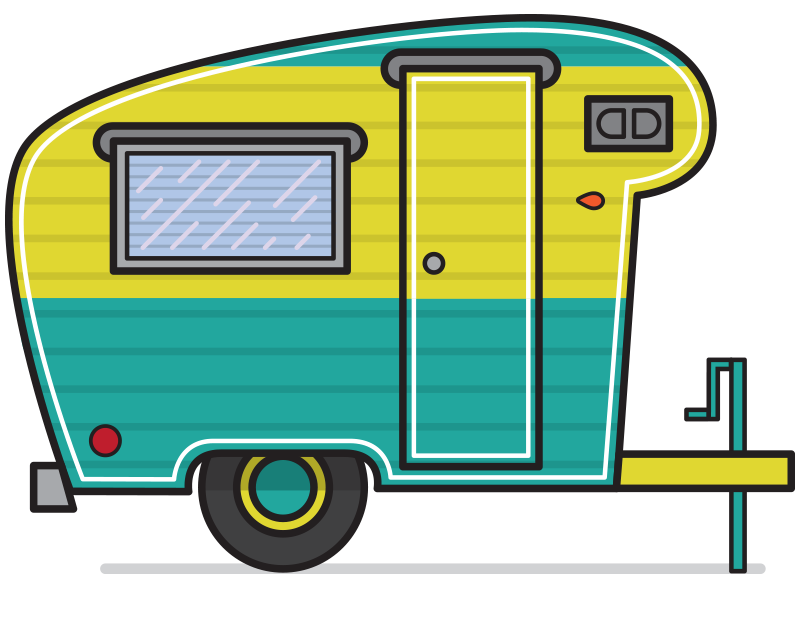 Camping camper. Clip art related keywords