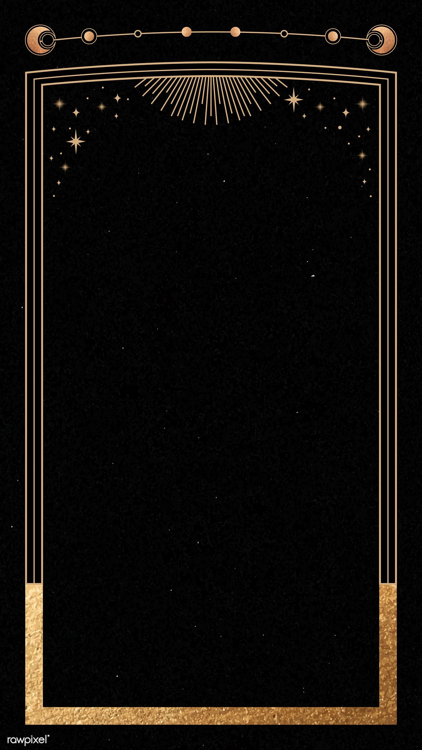 Download Premium Vector Of Mystical Gold Frame On Black