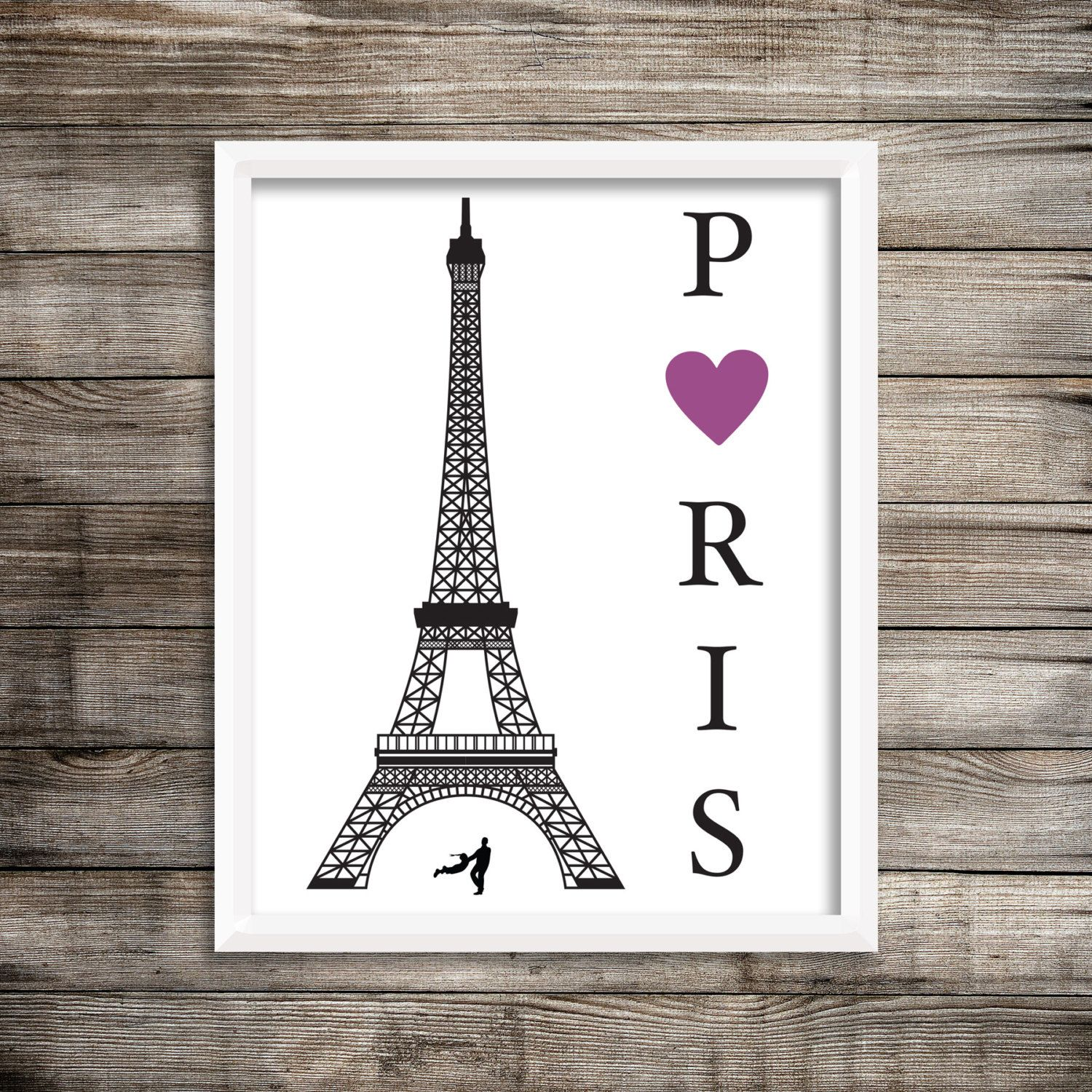 Paris Art Print.  Paris Eiffel Tower Art Print.   Home Decor ~ Digital Download. by moderngenes on Etsy