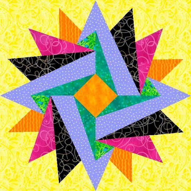 Indian Summer Paper Pieced Block
