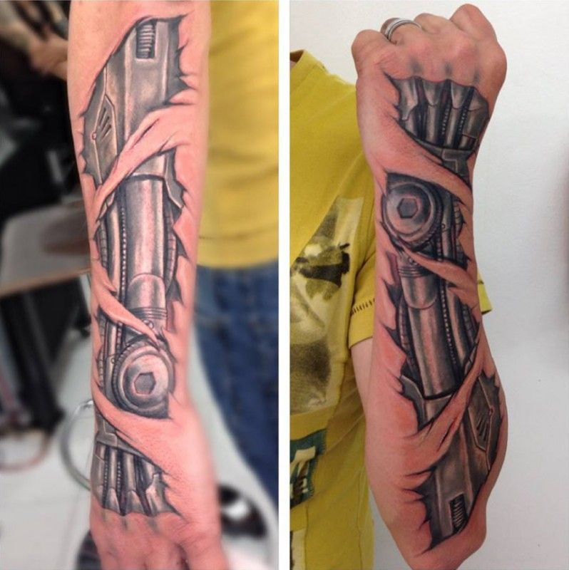 Biomechanical Forearm Tattoo Biomechanical Tattoo Mechanical Arm Tattoo Biomechanical Tattoo Arm
