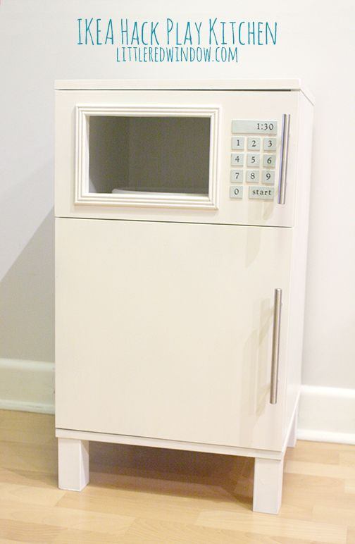 IKEA Hack Play Kitchen | Littleredwindow.com | Make An Adorable Play Kitchen  With Sink