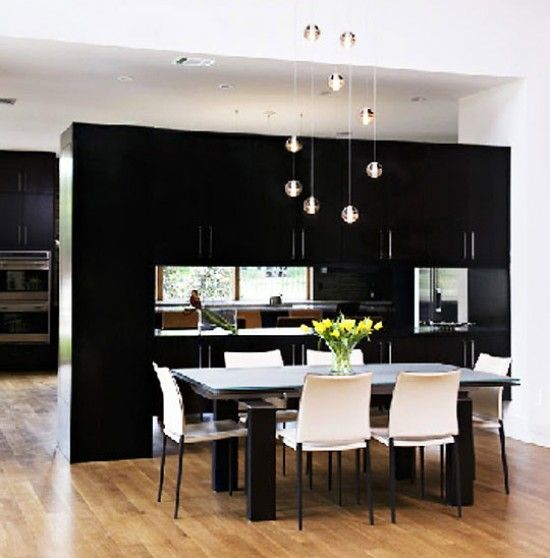 Imposing Partition Kitchen Dining wonderful kitchen and dining room decorating ideas throughout kitchen Furniture The Beautiful Design Of Room Partition Ideas With Chandelier On White Roof Also White Kitchen Pendant Lightingdining