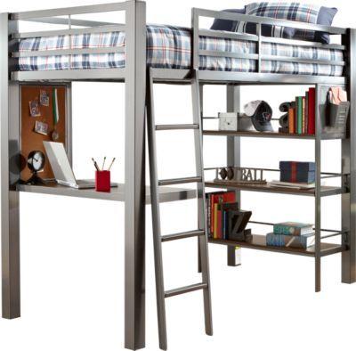 Louie 2 Pc Twin Loft Bed Elliot S New Bed Pinterest
