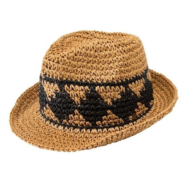 5e51bd6d79d40 Junior Volcom  Ibiza  Straw Fedora ( 19) ❤ liked on Polyvore featuring  accessories