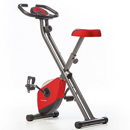 skandika foldaway x 1000  Skandika Foldaway x 1000 Exercise Bike Home Trainer with Hand Pulse ...