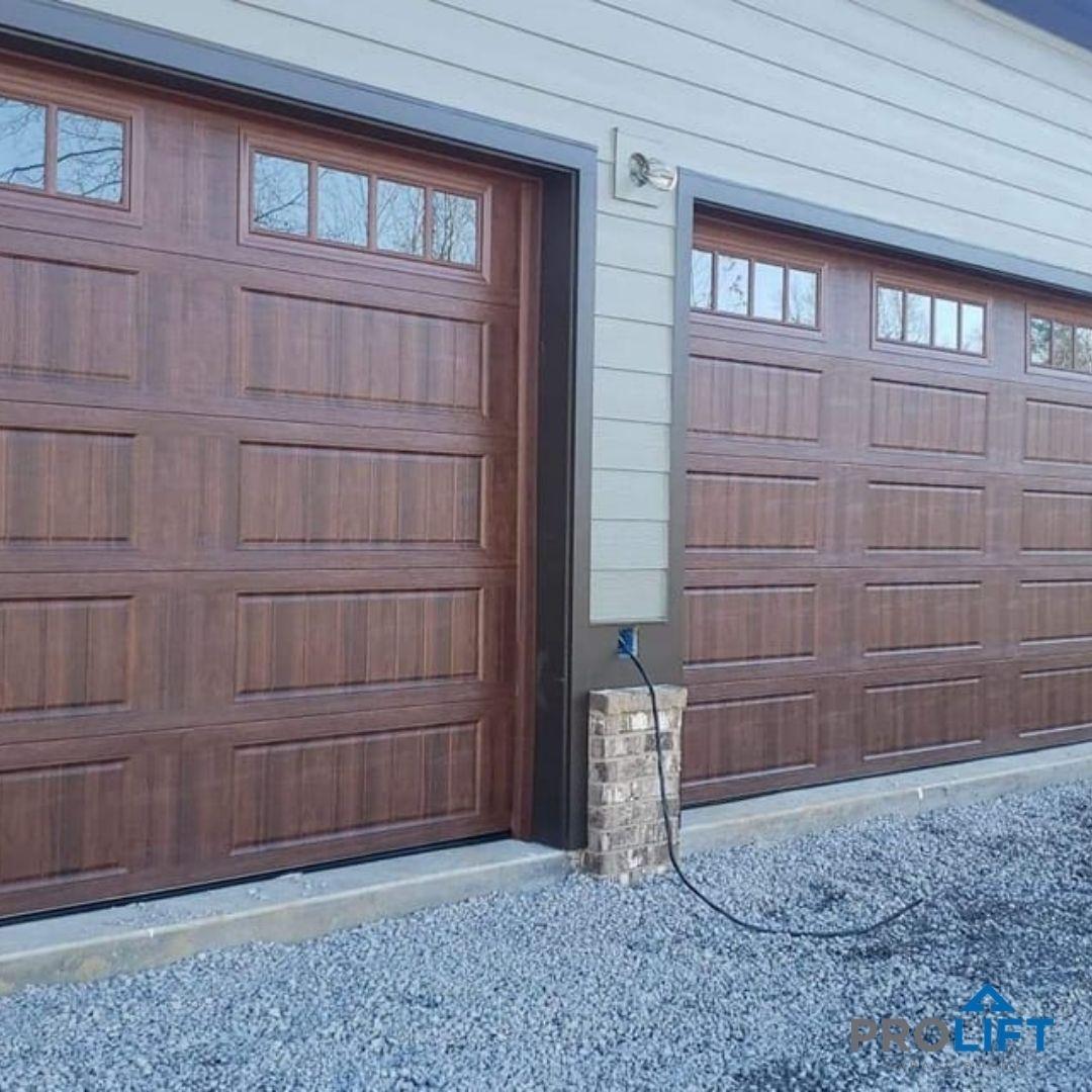 Garage Doors That Look Like Wood But Arent In 2021 Garage Doors Faux Wood Garage Door Garage Door Colors