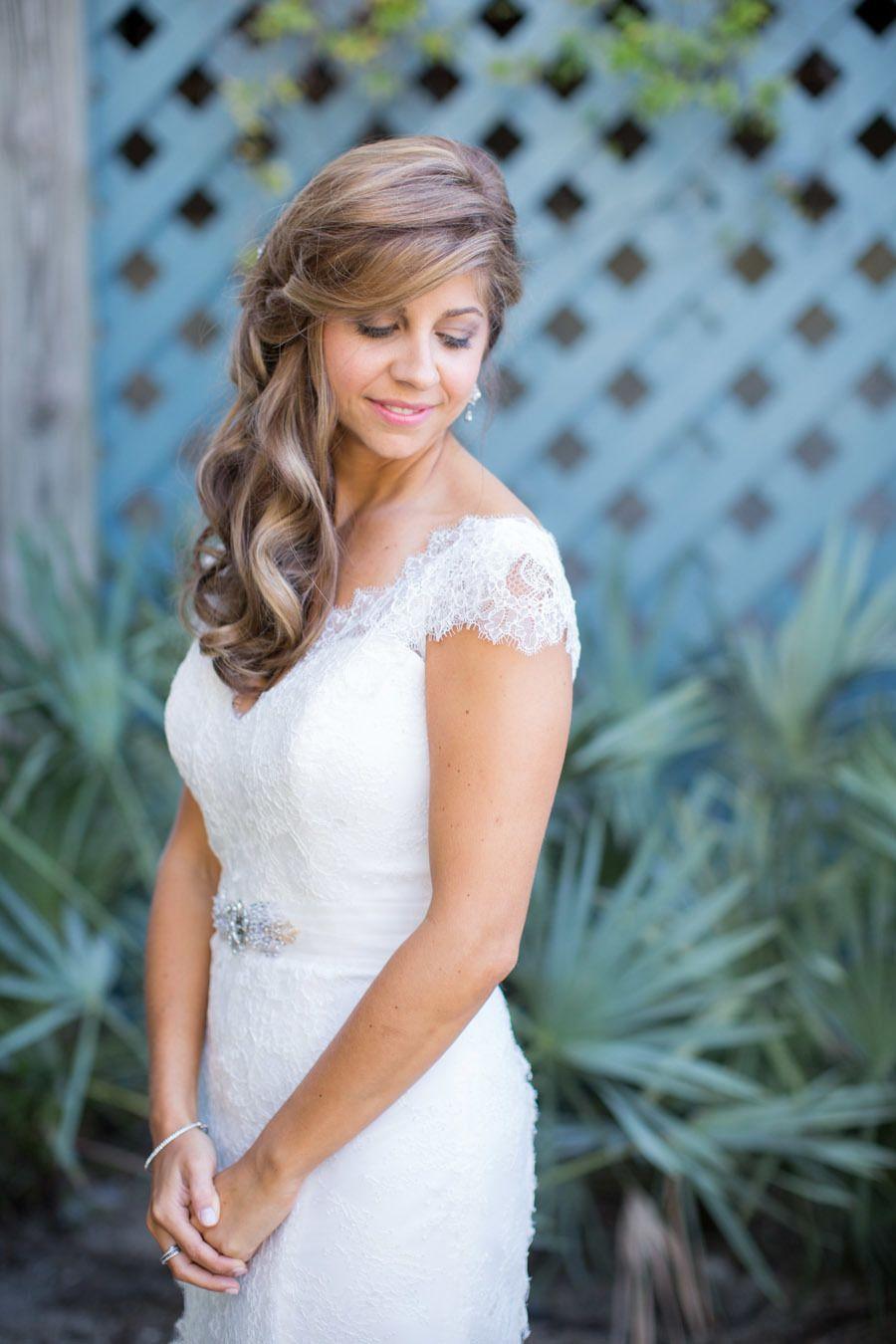 Romantic Pink Green Wedding At Bald Head Island Club Bridal