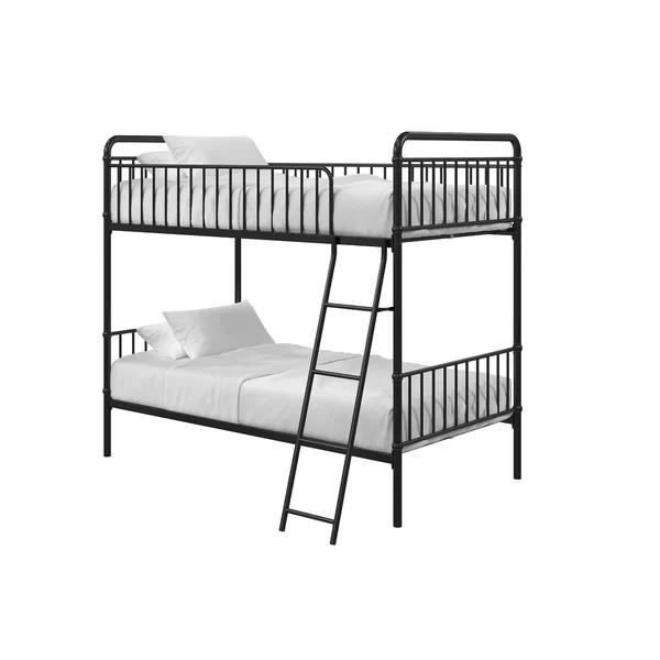 Ailish Twin Bunk Bed Amp Reviews Allmodern Twin Bunk Beds Metal Bunk Beds Bunk Beds