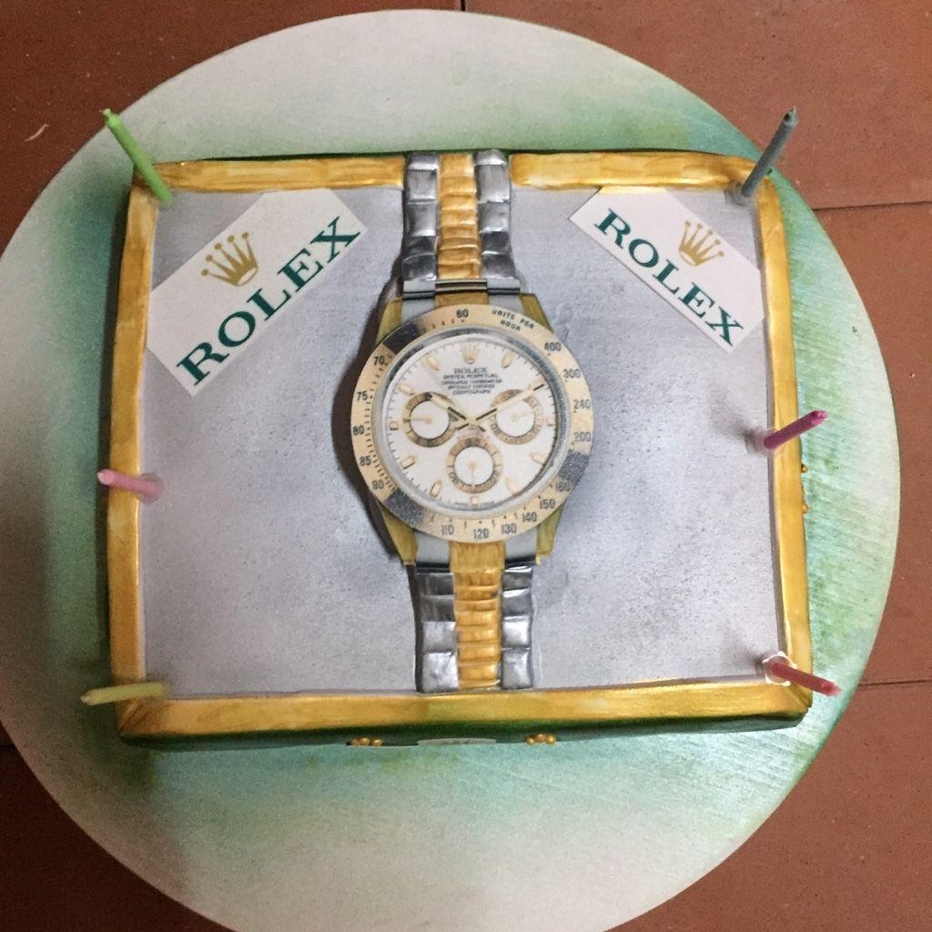 Rolex Uhr Kuchen