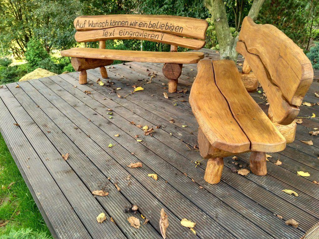 Amazon.de: Gartenbank aus Massivholz mit Lasergravur von Ihrem ...