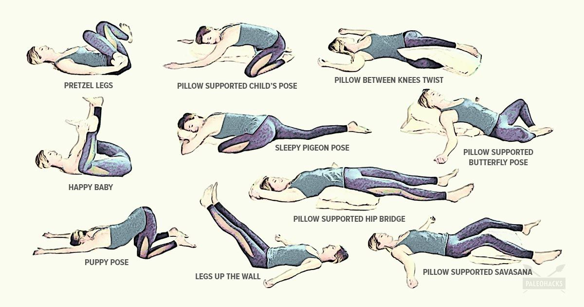 10 Sleep Promoting Yoga Poses You Can Do Right In Bed Night Yoga Relaxing Yoga Poses Night Time Yoga