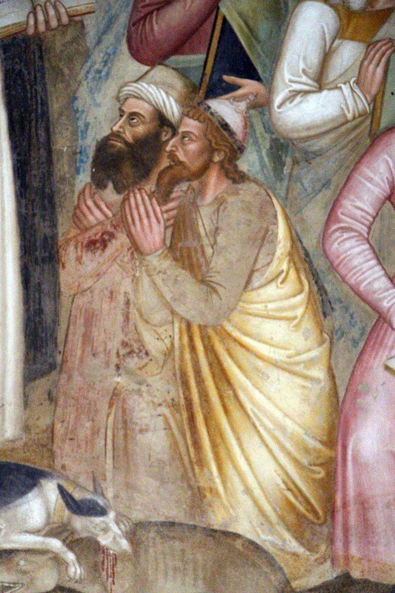 Andrea di Bonaiuto - La Chiesa militante e trionfante, dettaglio gli infedeli- affresco - 1365-1367 - Cappellone degli Spagnoli - Museo di Santa Maria Novella, Firenze