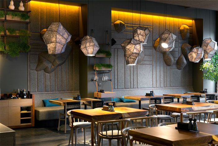 Attractive restaurant decor in kiev by yod design studio