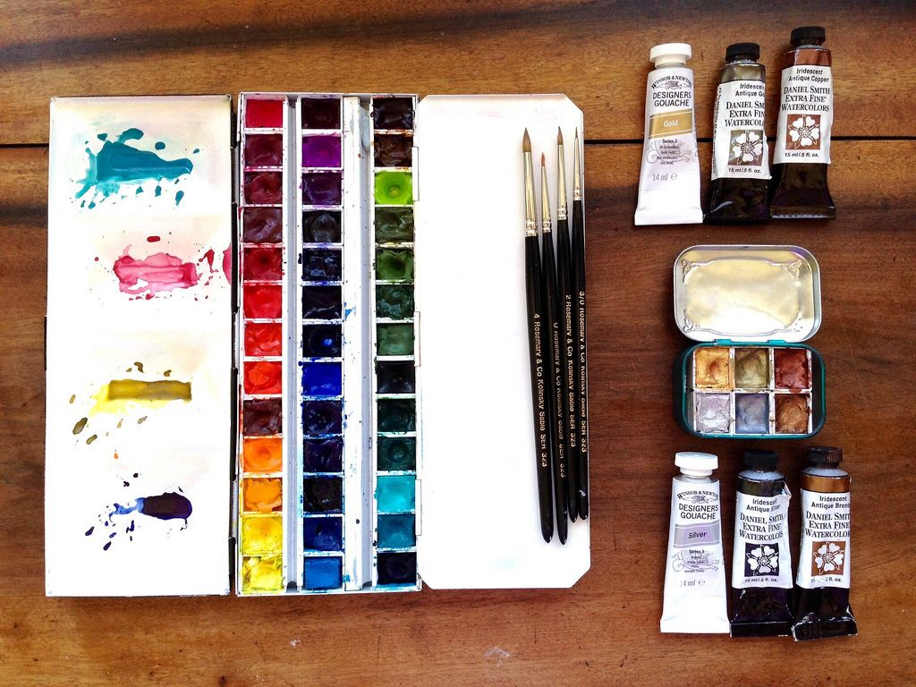 Watercolor Supplies For A Complete List Of Names And Brands