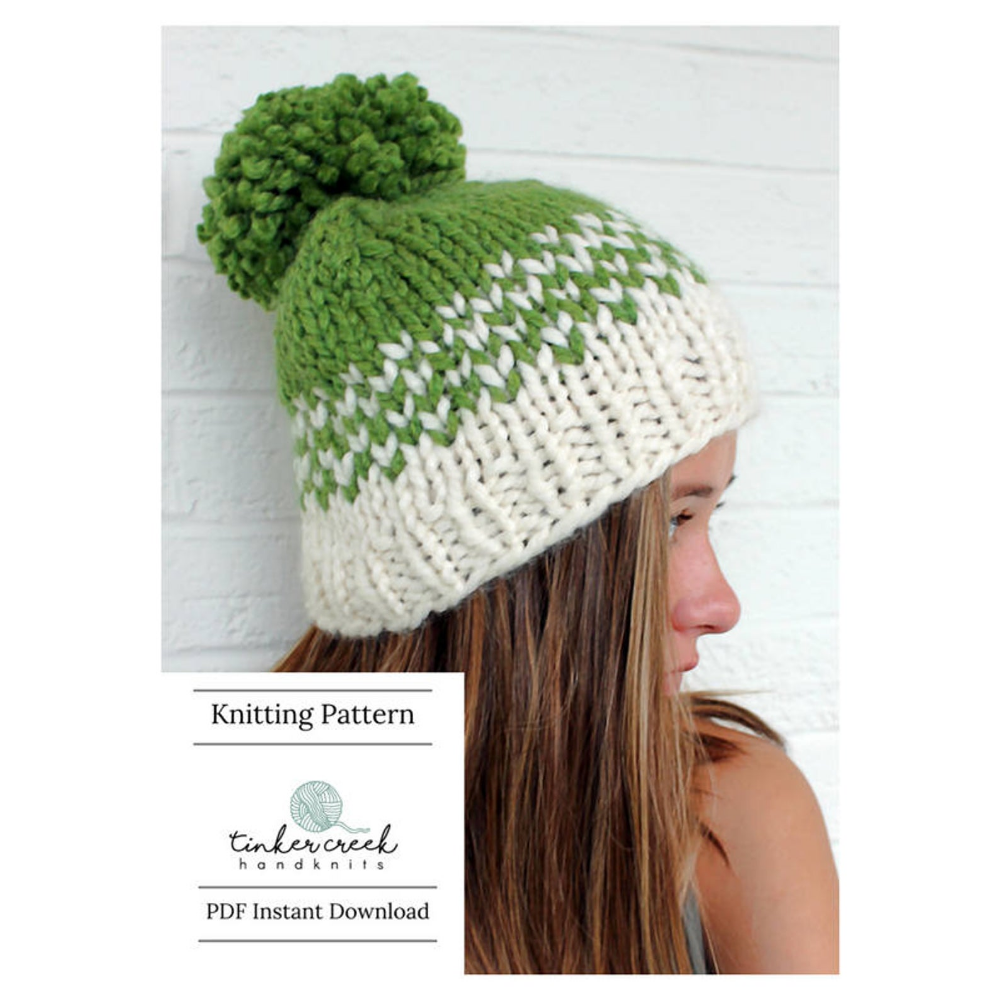Womens Pom Pom Hat Pattern Fair Isle Knit Hat Pattern ...