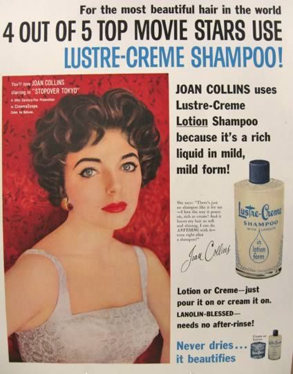 Joan Collins For Lustre Creme Shampoo 1957 Joan Collins