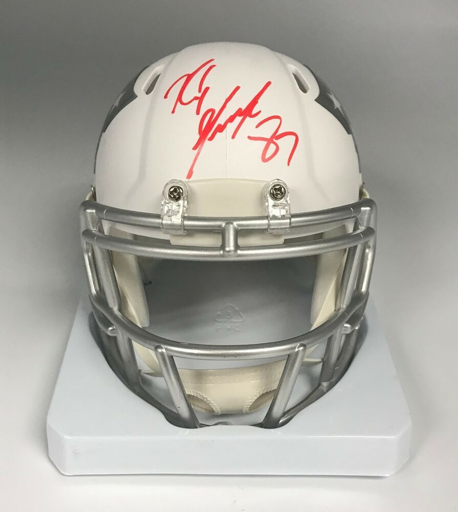 Rob Gronkowski Signed Patriots ICE White Mini Helmet AUTO w  GRONK Hologram deffc9d86