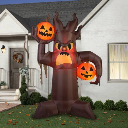 Gemmy Airblown Inflatable 105 X 7 Brown Scary Tree Halloween - inflatable halloween decoration