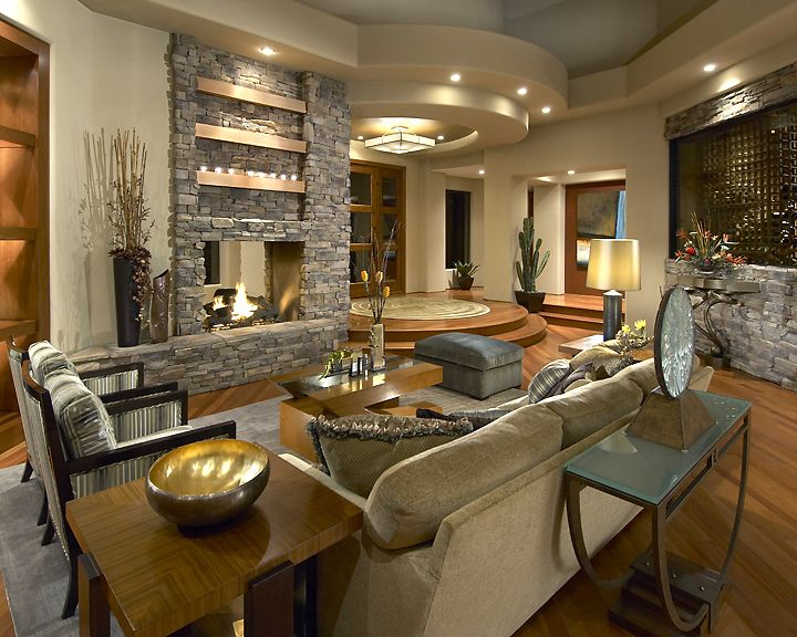 A Contemporary Twist On The Southwest Home Modern Living Room
