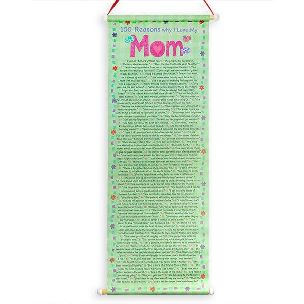 Reasons To Love Mom Scroll 100 Reasons Why I Love You Mom ...