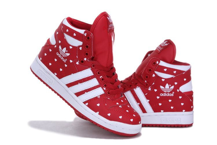 adidas originals hardland high shoes red with white