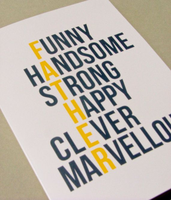 father's day card - I like this!!