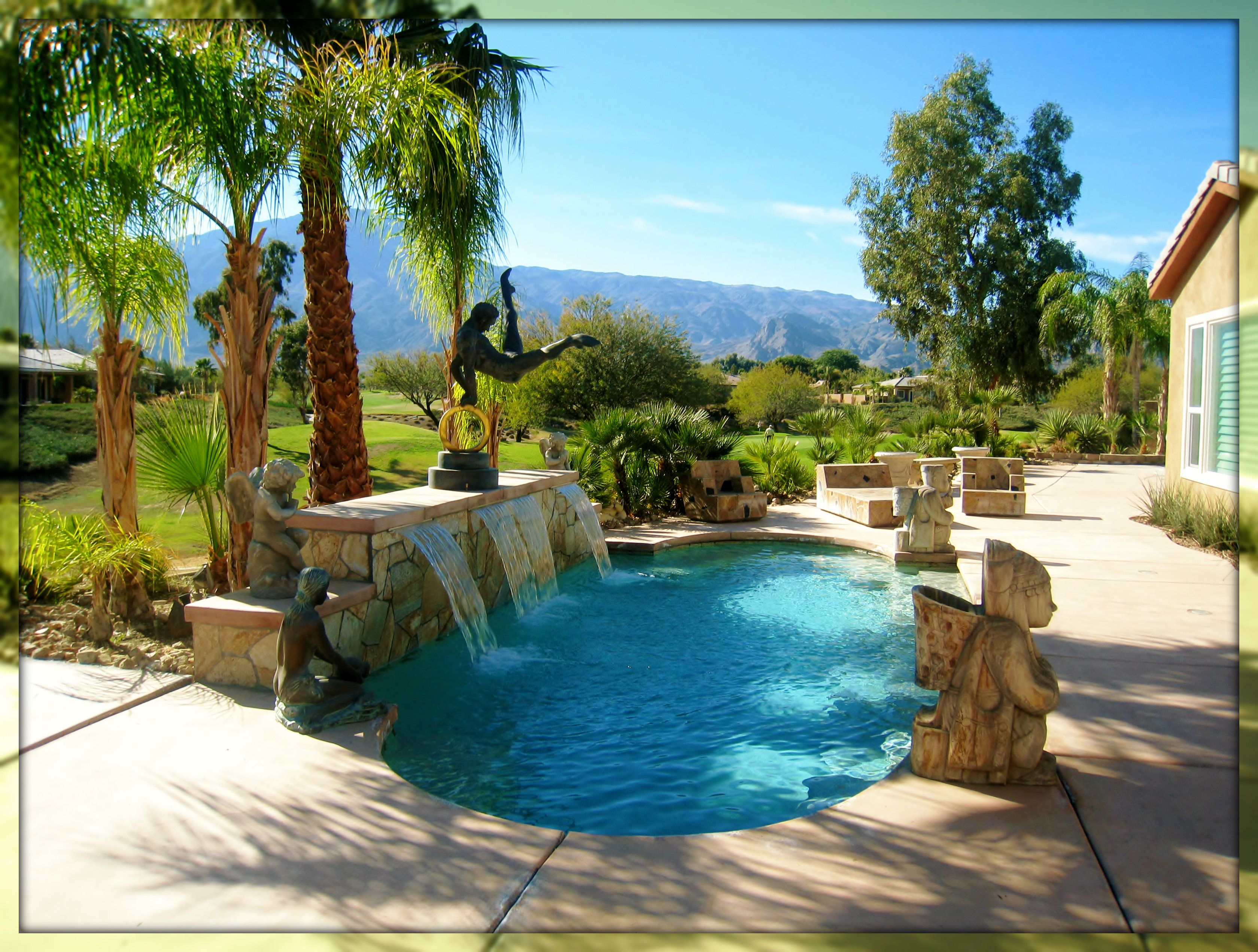3 Bedroom Home With Casita For Sale In Trilogy La Quinta Ca Backyard Pool Home Backyard