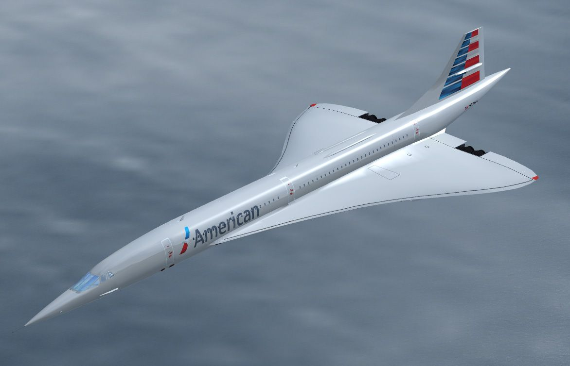 Concorde: With New American Airlines Livery, (although sadly