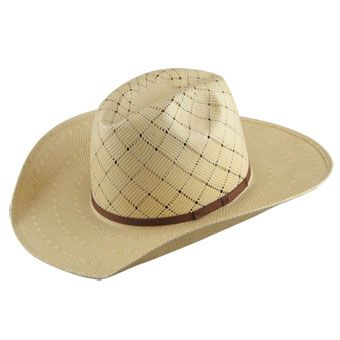 56ce651dc42 American Hat Co 20☆ Patchwork Crossbred Straw Hat - Wheat