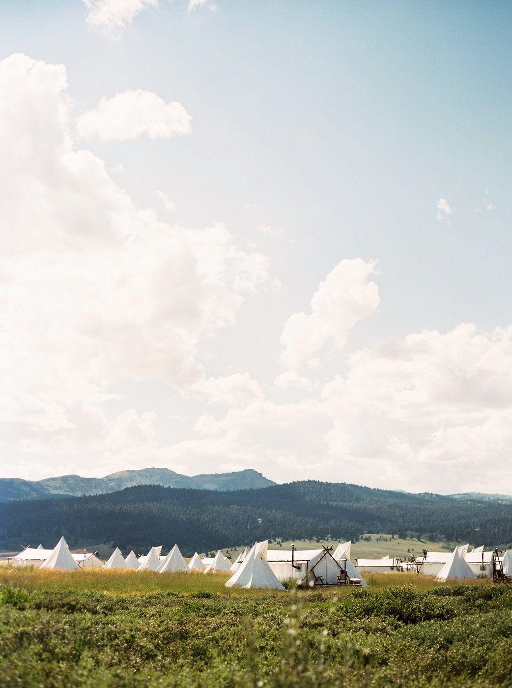 Yellowstone Under Canvas Wedding by Montana Wyoming ...