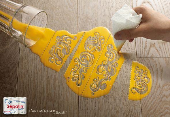 best paper towel ad i ve seen creative print ads pinterest