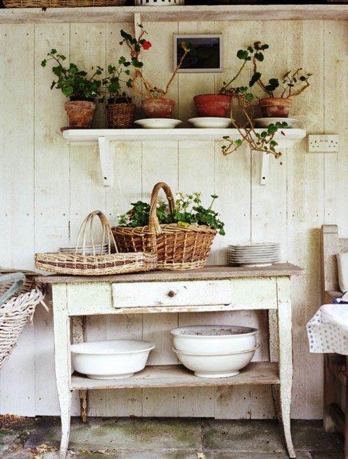 Inside the garden house