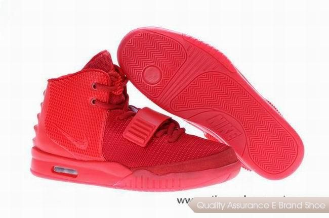 hot sale online f5d49 ba6ee Nike Air Yeezy 2 Kanye West Red October Basketball Shoes ...